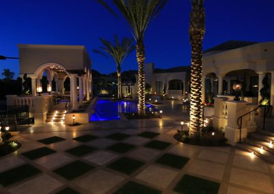 Electricians in Scottsdale, AZ - Nighttime Residential Pool and Patio Lighting