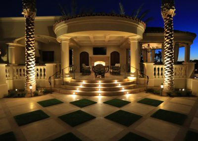Electricians in Scottsdale, AZ - Nighttime Residential Patio Lighting